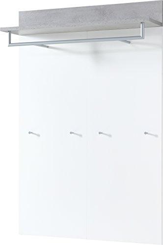 Germania Painel bengaleiro Topix 96x29x147cm branco e cinzento cimento