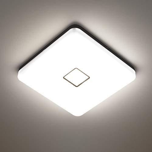 NOWES LED Deckenleuchten 24W 4000K 2100lm Deckenlampe, IP54 Wasserdichte Badlampe, CRI 90+ Feuchtraumleuchte Ideal für Badezimmer, Wohnzimmer, Schlafzimmer, Küche, Flur (Naturweiß)