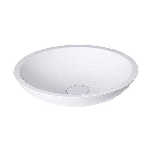 STONEART Waschbecken LC116 (Mineralguss) weiß/38x38cm/matt