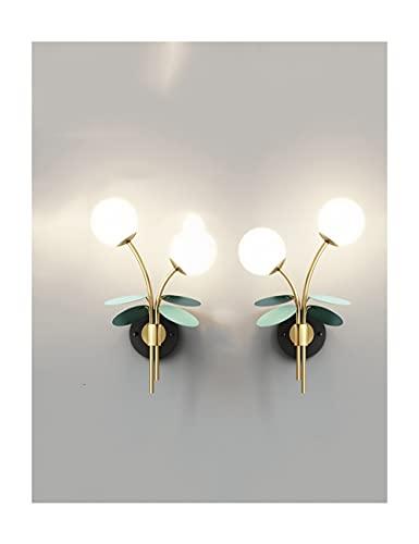 THHN Modern Golden 2 Paquetes de la Pared de la Pared, la luz de la Pared del Art déco Simple de Tres Colores, el Dormitorio del Corredor de la Sala de Estar Conveniente (Color : Gold, tamaño : Pair)