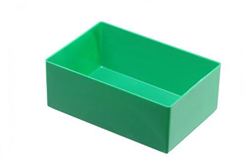 hünersdorff Insatslåda av höghållfast polystyren (PS), mått: 162 x 108 x 63 mm, färg: grön