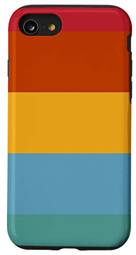 iPhone SE (2020) / 7 / 8 Colorful Decorative Striped Minimal 70s Style Retro Stripes Case