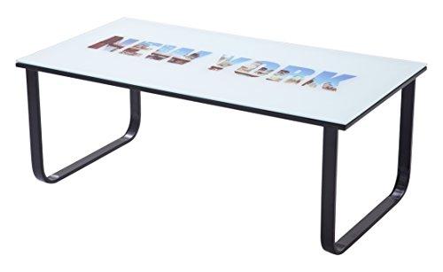 Robas Lund New York Couchtisch, Tischplatte: Sicherheitsglas, bunt, 001 x 001 x 001 cm