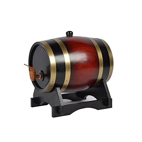 HWhome Barril De Envejecimiento De Roble,Dispensador De Whisky De 1.5L/3L/5L/10L/20L/25L/30L/50L con Soporte De Roble Adecuado For Almacenar Cerveza Whisky Sidra Vino(Marrón)(Size:1.5L)