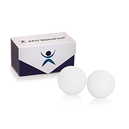 Meditation Qi-Gong-Kugel Paar | Yin Yang Steinkugel | STEIN MARMOR WEISS | Durchmesser: 50mm | mit hochwertiger und wiederverschließbaren Aufbewahrung Magnetbox