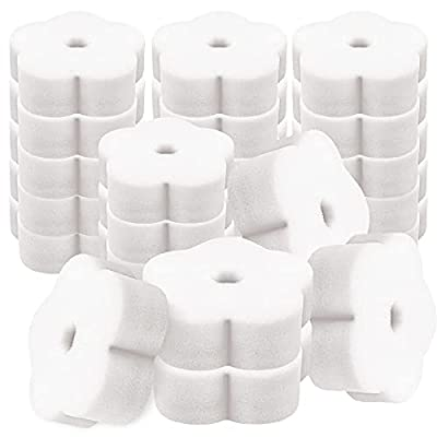Acmer 25 Pieces Flower Shape Oil Absorbing Scum Sponge for Swimming Pool Hot Tub and Spa