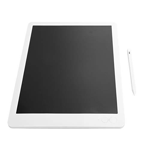 Tablero de Dibujo LCD, Tablero de Dibujo portátil con Pantalla de Bloqueo de una tecla, Cuerpo Ultrafino de 7 mm, Duradero y Delgado de 13.5 Pulgadas para niños(White Monochrome Font)