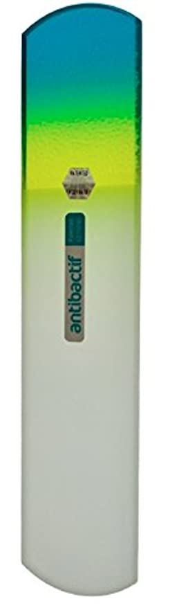 プライバシー過度に農業BLAZEK(ブラジェク) 抗菌ガラスやすり かかと用160mm(グリーングラデーション)