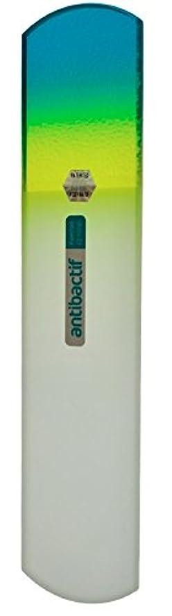 旋回振動する打ち負かすBLAZEK(ブラジェク) 抗菌ガラスやすり かかと用160mm(グリーングラデーション)