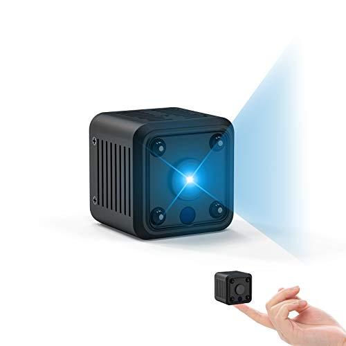 CACAGOO Mini Kamera, 1080P Mini Überwachungskamera mit Bewegungsmelder und Speicher Aufzeichnung Mikro WiFi IP Kamera,Compact Sicherheit Kamera für Innen und Aussen