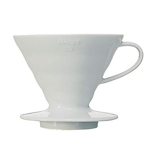 Hario V60 Ceramic Coffee Dripper, Size 02, White