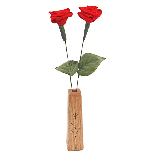 Give a wool rose as a 7th anniversary gift