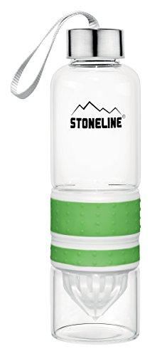 STONELINE  2 in 1 Trinkflasche mit Saftpresse, 550 ml, grün