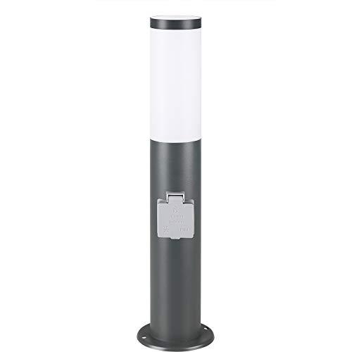 monzana Paletto Luminoso Segnapassi Acciaio Inox da Esterno E27 Antracite Pali Luminosi Lampioncini da Giardino