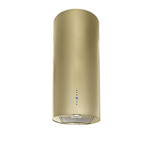 Dunstabzugshaube Inselhaube F.BAYER POLE IS40GO ECO 40cm Gold Dunstabzug 700m³/h EEK B LED