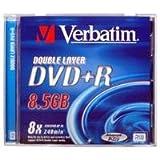 Verbatim 43540 8.5GB DVD+R 1pieza(s) DVD en Blanco - DVD+RW vírgenes (8,5 GB, DVD+R, 120 mm, 1 Pieza(s), 240 min, Policarbonato)