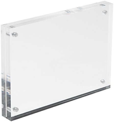 Deflecto 15 mm A6 Acrylic Magnetic Block - Clear, MCHA611