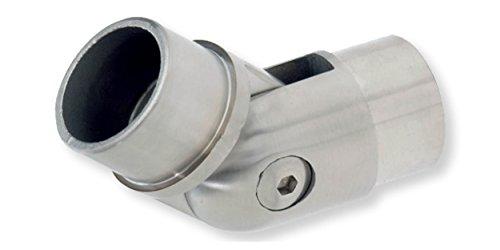 Edelstahl Gelenk Rohrverbinder Fitting schwenkbar für 42,4 x 2,0 mm