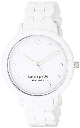 Kate Spade New York Women's Morningside Quartz Silicone Three-Hand Sports Watch, Color: White Silicone (Model: KSW1608)