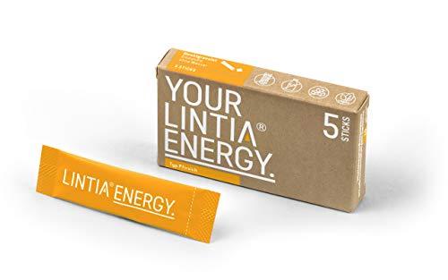 LINTIA Polvere ENERGY : vitamina B12 e acido pantototenico per ridurre la stanchezza e l'affaticamento, pesca, 5 stick