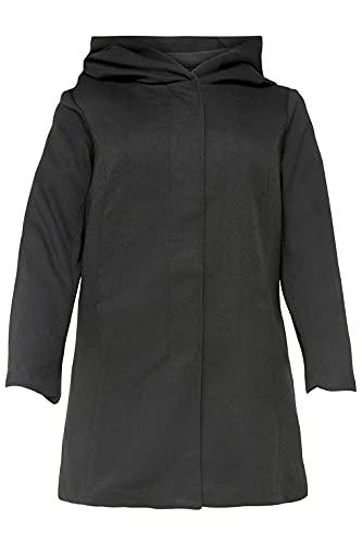 ONLY Carmakoma Damen Carsedona Light Coat Otw Mantel, Schwarz (Black Black), 46-48 Größen