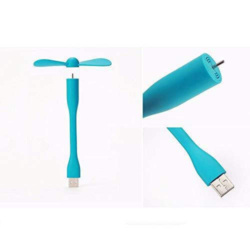 mingxiao Mini Cute Portable Flexible USB Fan Summer Cooler Bendable Removable USB Gadgets Low Power for PC Laptop Best Gift Desk Fan Portable Hanging Neck Fan,White