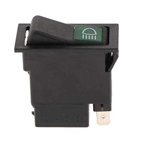 IPOTCH Interruptor de Botón de Velocidades con Interruptor Basculante para Vehículo Automóvil
