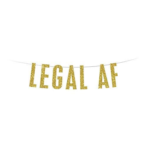 Banner legal Af Banner Gold Glitter Banner 21st Birthday Banner