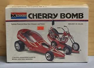 #6761 Cherry Bomb Turbine Powered Show Rod, Chopper and Trailer 1/24 Scale Plastic Model Kit,Needs Assembly