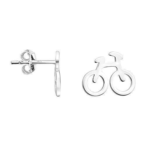 SOFIA MILANI - Damen Ohrringe 925 Silber - Fahrrad Ohrstecker - 21017