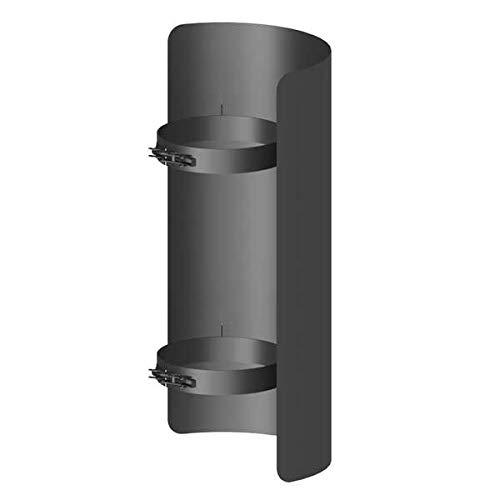 Ø 150 mm Ofenrohr Strahlungsschutz 25 cm Schwarz