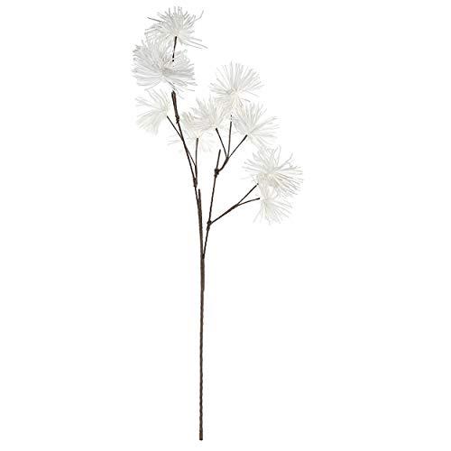 Hogar y Mas Flor Blanca Artificial, Ramas Decorativas Altas. Flores Decoración Jarrones Goma Eva 40X125 cm