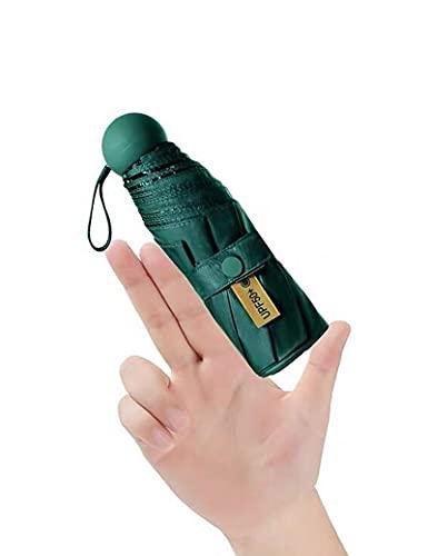 TZEUSER Golf Umbrella smallest uv sun umbrella travel wind resistant reflective Gift giving green