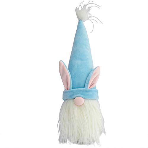 YU-HELLO _Gnomo de conejo de Pascua para niñas, regalo de cumpleaños, conejo sueco, tomte elfo