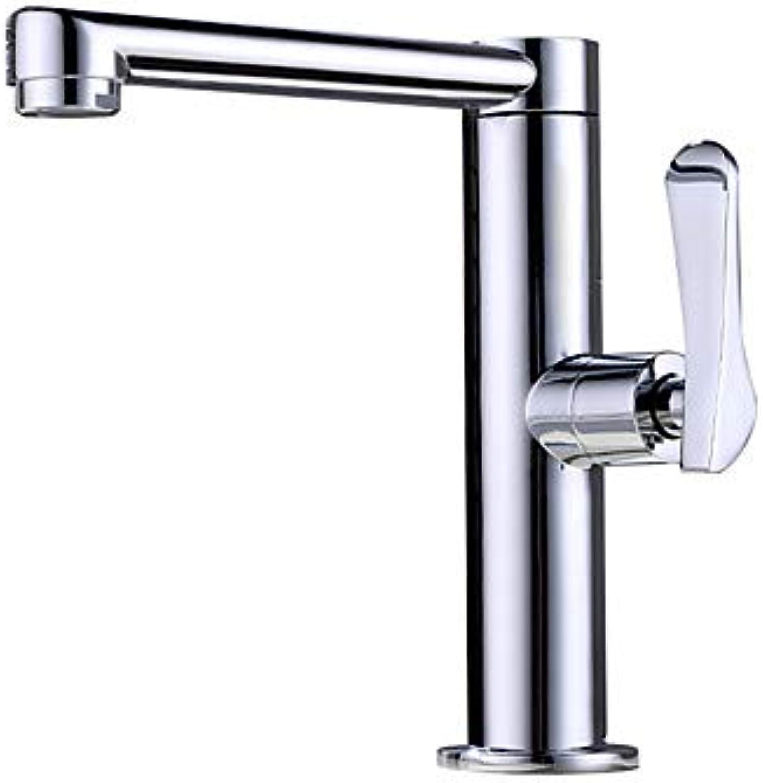 Bathroom Sink Faucet - New Design Chrome Deck Mounted Single Handle One HoleBath Taps