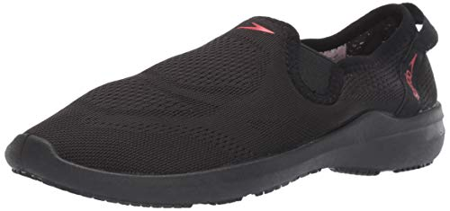 Speedo Women's Water Shoe Surfwalker Pro Mesh, Black/Pink, 5