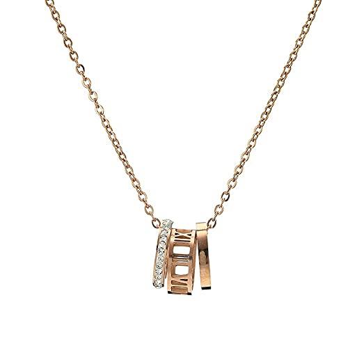 collar mujer plata Collar digital Colgante decollar de cadena de clavícula T0958A Yhgjhuie
