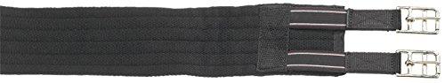 Busse Sattelgurt Textil-Long, elastisch, 90 cm, schwarz