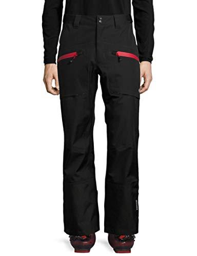 Ultrasport Professional Inuit Pantalones de Esquí, Hombre, Negro (Black/Red), M