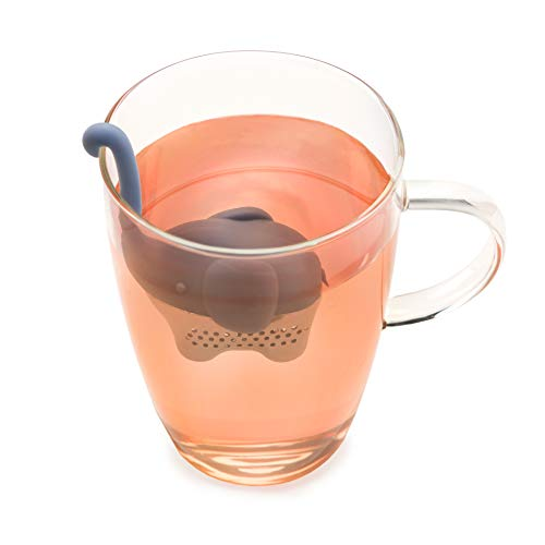 Elephant Stainless Steel and Silicone Loose Leaf Tea Infuser and Strainer by TrueZoo