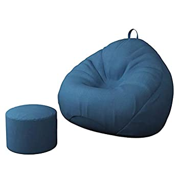 Plush Ultra Soft Bean Bag Chair Stuffed Foam Filled Furniture and Accessories for Dorm Room for Kids Teens Adults  Blue Large 39x47