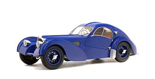 Solido Soldio S1802103 Bugatti Atlantic 57SC, bouwjaar 1937, modelauto, 1:18, donkerblauw, blauw