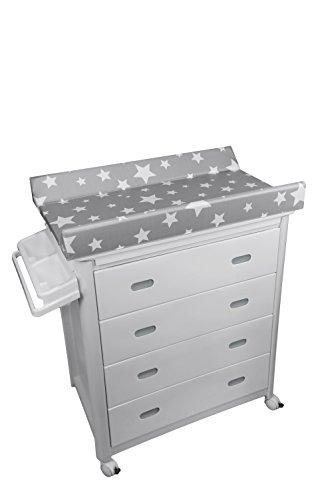 Plastimyr - Bañera, diseño estrellas, color gris/blanco