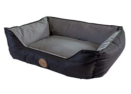 Jalo Oxford Hundebett grau/schwarz, rechteckig, waschbar, für kleine und mittlere Hunde 75x60 cm