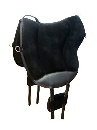 PS Pferdeartikel Reitpad ALIVIO mit WBS Kanal & Kammeraufbau durch befüllbare Filzkissen - klettbar Farbe schwarz