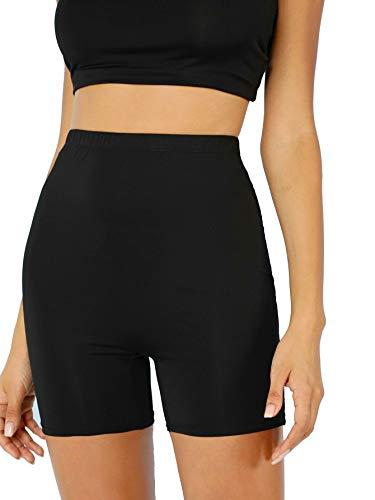 PrettyFashion 1 2 Leggings Corti Donna Pantaloncini Mutande Pantaloncini da Ciclismo Taglia 36-50 (Nero, XL)