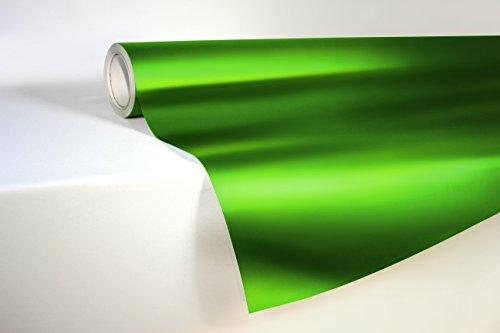 VViViD Emerald Green Satin Chrome Metallic Finish Vinyl Wrap Film Roll 1 Foot x 5 Feet Decal Sheet DIY Easy to Use Air-Release Adhesive