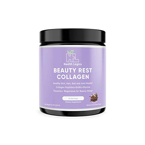Health Logics Beauty Rest, Collagen Peptides (Types I & III) Powder, Non-Habit Forming Sleep Aid, Relaxing, Healthy Joint & Skin, Anti-Aging Formula