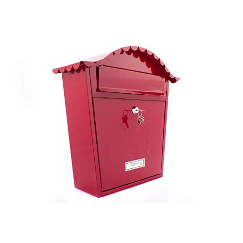 Sterling MB01R - Cassetta della posta classica, colore: Rosso