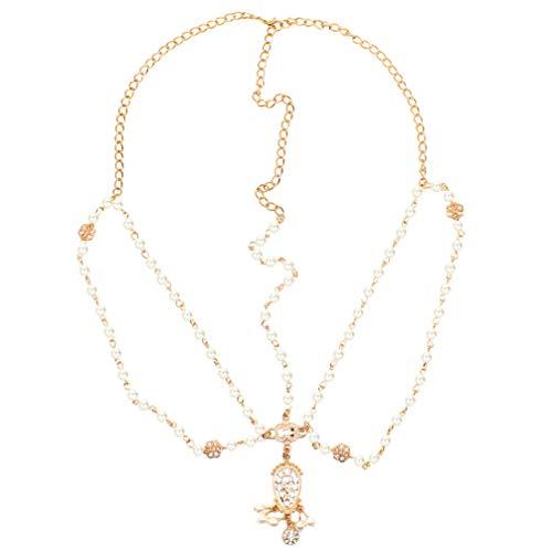 Lurrose Tocado de Cadena para La Cabeza de Novia con Diamantes de...